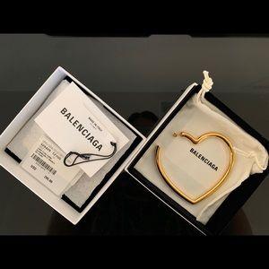 Balenciaga single size earring (heart)